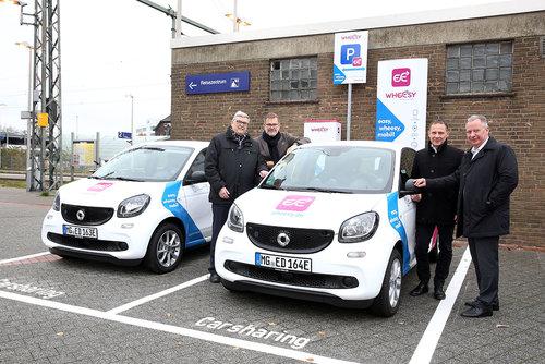 """Wheesy"" Mobilitäts-Hub in Erkelenz verbindet E-Mobilitäts-Sharing und ÖPNV"